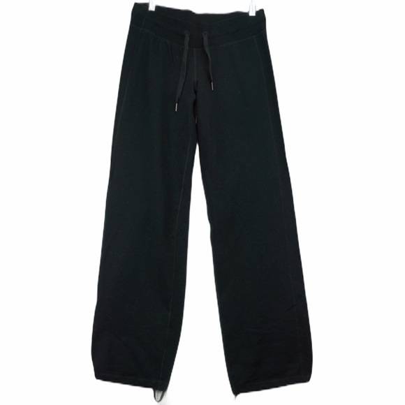 Lululemon black sweat pants joggers